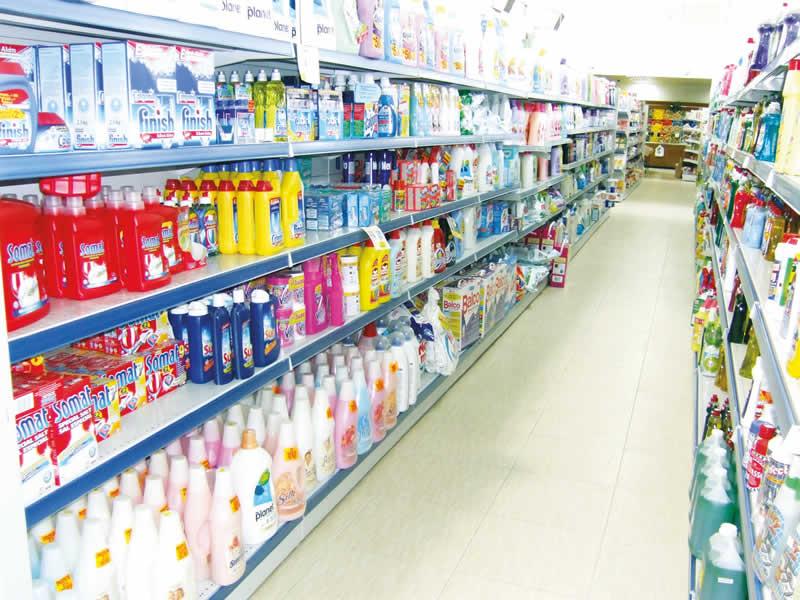 Supermarket shelving in Cyprus