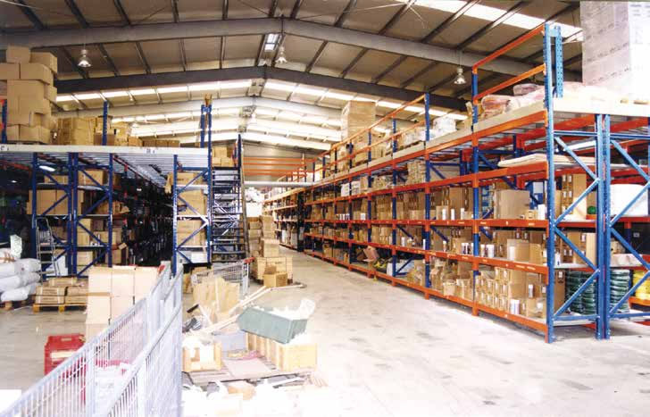 Mezzanines and metal shelves in Cyprus