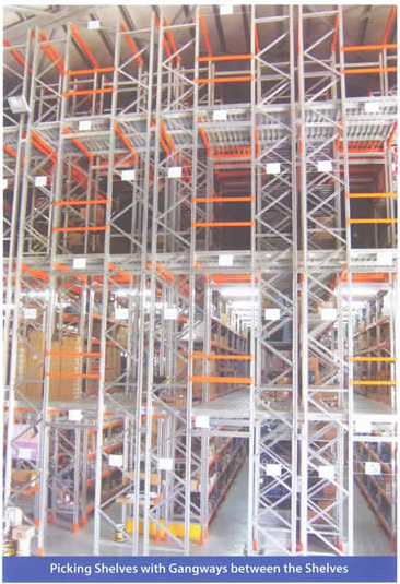 Picking shelves with gangways between the shelves, Cyprus