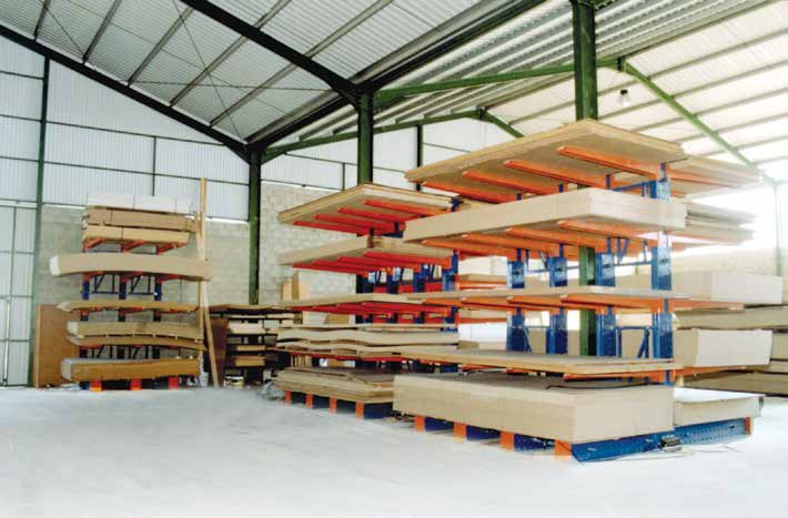 Cantilever Shelving for storage of timber. pipes. profiles. etc, Cyprus