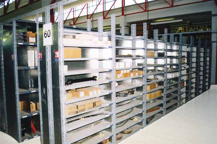 Light load slotted angle shelving, Cyprus