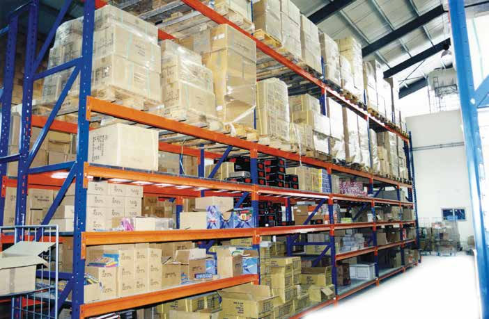 Combination racking and picking shelves, Cyprus