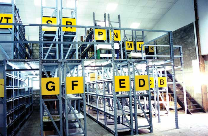 Picking Racking with gangways between the shelves, Cyprus
